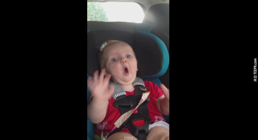 車裡的寶寶哭個不停,但只要一聽這首歌,馬上就會180度大轉變。