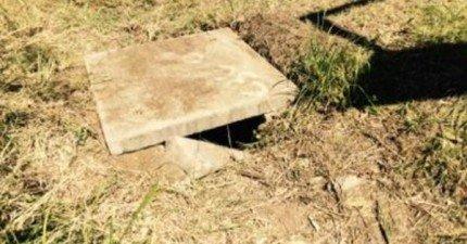 他們聽到2.4公尺的地底下傳來聲音,結果發現了一個生命奇蹟。