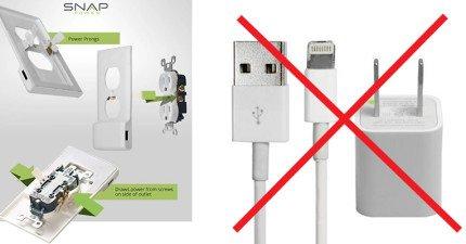 討厭到處帶著USB充電器嗎?以後再也不用了!