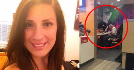 這名正妹拍到店員對顧客做出「完全超出服務範圍」的感人舉動,反而讓大家都更愛麥當勞了!