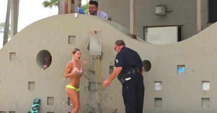 洗髮精惡作劇再一發,這次邀請「警察杯杯趕人」邪惡度翻倍!