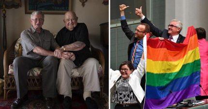 澳洲同性婚姻正式合法!98歲老爺爺盼了39年終於可以和男友結婚…他:還好我活得夠久!