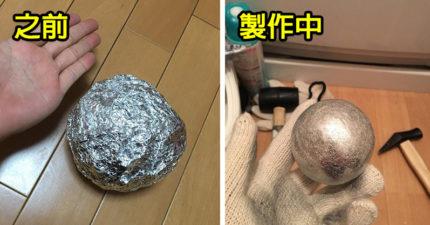 網紅都在瘋「在家打鐵」!只要一個禮拜「鋁箔紙變身閃亮鋁球」成就+療癒感滿滿!(7張)