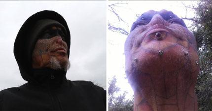 他好想變成「爬蟲類生物」,砸160萬把舌頭「切成開岔狀」眼球染成黑色變夢魘才出現的怪物!