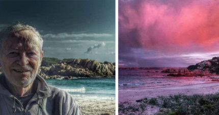 阿伯厭惡虛偽世界「一個人在無人島住29年」,每天PO「無人島寂寞景色」淒美到感動萬人(22張+影片)