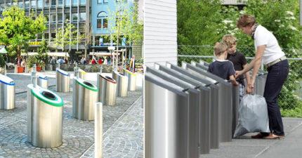 垃圾太多了QQ 瑞士想出高科技「無底洞垃圾桶」不會滿也不會臭~