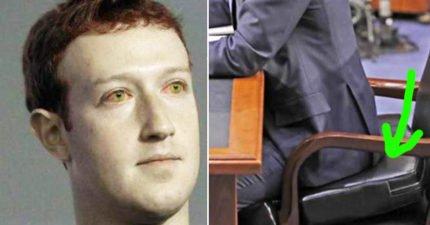 網友找到馬克祖克柏「就是機器人」的證據了!注意他坐的椅子