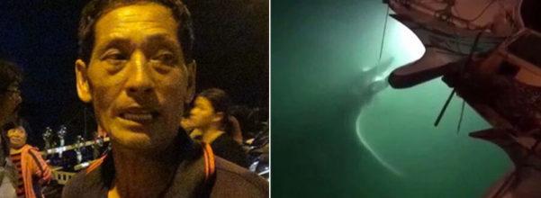 捕鬼蝠魟一路拖2小時「結果沉入海底」 船長被砲到崩潰:根本是霸凌!