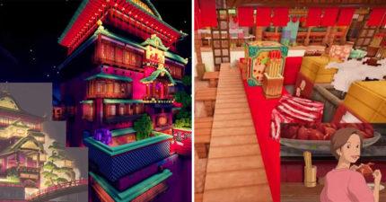 影/遊戲世界打造「神隱少女場景」 再吃會變成豬的餐廳也精緻重現!
