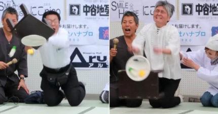 日本舉辦「翻桌比賽」魚飛最遠就贏 壓抑大叔翻得讓人難過