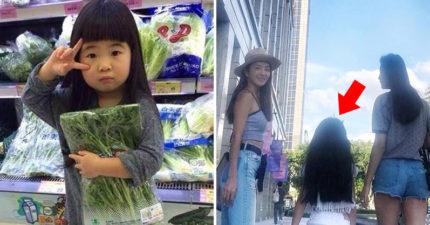 7歲Garce遺傳「不科學美腿」 背影名模氣勢大爆發