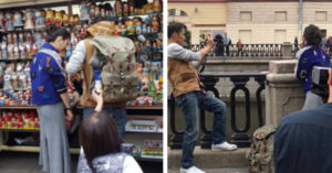 世足場外捕獲「野生男女神」悄悄合體 粉絲合照來者不拒:超親民!