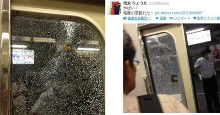 日本地鐵門「蜘蛛網式碎裂」 乘客看到兇手竟只是一根薯條!