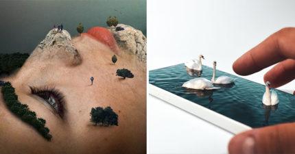 藝術家拍「讓人懷疑自己眼睛」混淆大腦超現實作品 可以吃的手!