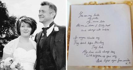 丈夫因喉嚨痛離世...她卻在麥片裡找到「他還活著的證據」