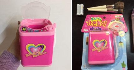 大創神器!可愛玩具秒變超實用「化妝刷具洗衣機」 「超明顯清洗效果」女生瘋搶啦