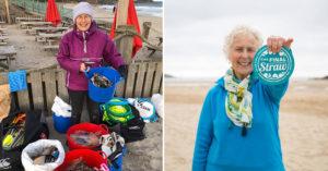 70歲奶奶看不下去「年輕人把地球搞髒」 一年清光52個海灘的垃圾!
