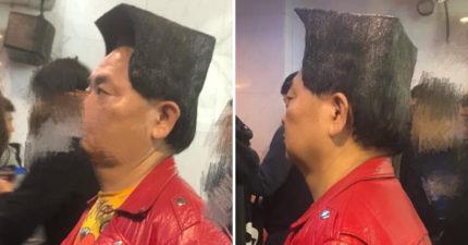 網友巧遇「8公分直角方頭哥」比金正恩還霸氣 他透露「梳髮原因」:我心碎了...