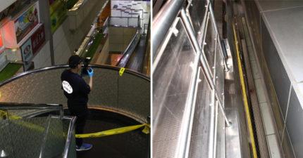 阻止老公出國...女在桃園機場被「公主抱」從4樓垂直送1樓 老公再跳上去!