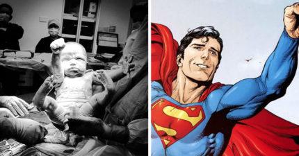 小寶寶用「超霸氣姿勢出生」震撼產房 資深醫生嚇傻:她生出一個超人!