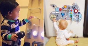 暖爸把「所有違禁品」都釘在木板上 完成品竟是「拯救爸媽」的育嬰神器!