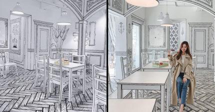網大推不去會後悔的3家「首爾人氣打卡咖啡廳」 超狂「黑白線條設計」讓人置身二度空間!