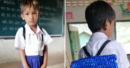 沒錢買書包...暖爸低成本DIY「編織書包」給兒子 超狂時尚設計感網瘋傳:好想買!