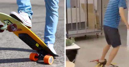 影/神人把滑板改造成「萬腳大蜈蚣」 啟動時「超魔性爬動」網友超羨慕:拜託量產!