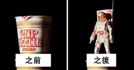 神人把「商品包裝→超美模型」網路爆紅!速食麵秒變「日本武士」超霸氣~(19張)