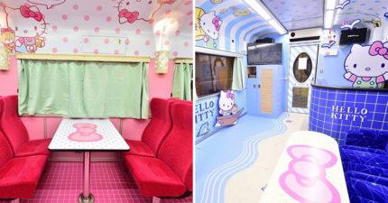 最新「Hello Kitty彩繪列車」在台灣!6種超夢幻主題 居然還把KTV搬上車