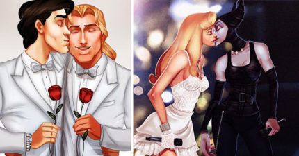 14張當迪士尼人物反傳統「打破世俗」插畫!花木蘭直接戀上跨國藉公主