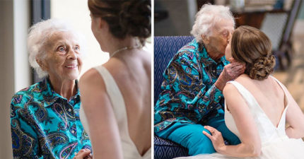 外婆被「送進安寧病房」不能參加婚禮 孫女偷拍「最後合照」圓夢