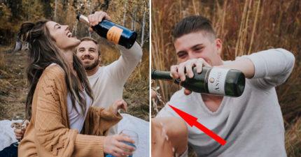 女友想拍「甜蜜唯美照」卻發生悲劇 網看「她超尷尬下場」笑翻:男友還活著嗎?