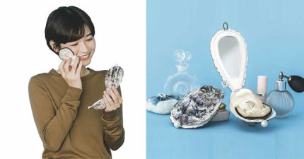 日本推出超獵奇「牡蠣粉撲」拿出來補妝超嚇趴!實用性卻超NG~