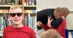 影/色盲男孩「試戴矯正眼鏡」 他此生「第一次看到彩色」被感動落淚!