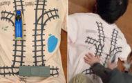 影/工程師老爸設計「陷阱鐵道T」讓兒子玩遊戲秒變按摩大師