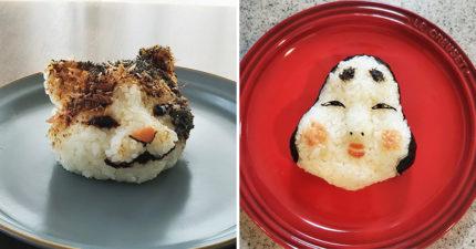 把做飯糰提升到「藝術品等級」的超猛神人 快求媽媽做「側躺小海豹」!