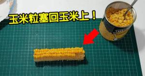 影/無聊哥實測「把玉米粒罐頭黏回玉米上」看總共有幾根...結果超驚人!