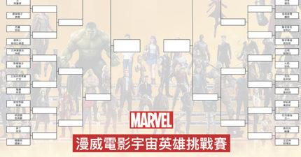 漫威電影宇宙英雄明星賽!兩兩互打誰會贏?