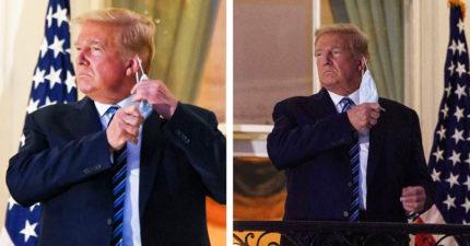 4天就出院!川普直接「脫口罩」雙手比讚 他:我可能免疫