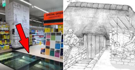 超市地底藏有「中世紀建築」 專家:是「維京人祖先」的住家