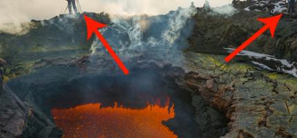扎爾巴奇克火山入口