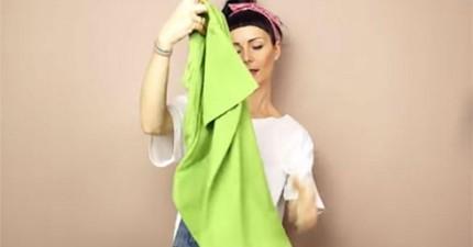 正確折衣服方法