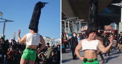 動漫展驚見《獵人》小傑Cosplay!一頭「恨天高頭髮」引騷動 真實身份更驚人