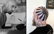 「腦洞」實體化?神手刺青師「錯視設計」 幫朋友紋出一個腦洞