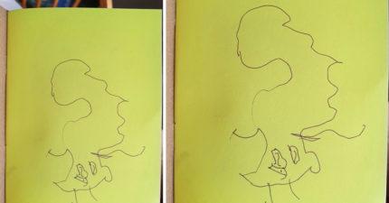 3歲女手繪父親生日卡片 「最愛爸爸的這一點!」網嚇壞