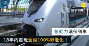 革命性「氫動力列車」實現100%綠能...唯一廢棄物只有水!