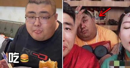 150公斤吃播主「整張臉發黑」突睡著!網嚇壞:跟「猝死大胃王泡泡龍」一樣