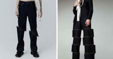 還在穿破洞牛仔褲?「被砍牛仔褲」成時尚新趨勢 「青苔褲」都已經落伍了